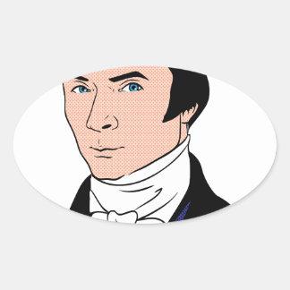 Handsome Bastiat Oval Sticker