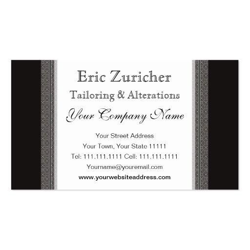 Handsome Biedermeier Gentleman Elegant Vintage Business Card
