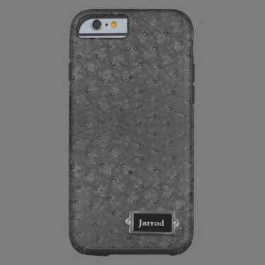 Handsome Black Ostrich Leather Look iPhone 6 Case