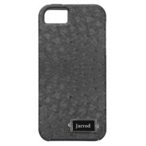 Handsome Black Ostrich Leather Look iPhone SE/5/5s Case