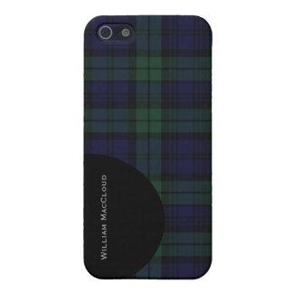 Handsome Black Watch Tartan Plaid iPhone 5 Savvy iPhone SE/5/5s Case