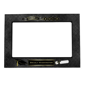 Handsome Black Wire Look Graduation Photo Magnetic Picture Frame