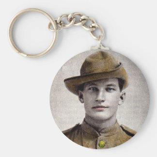 handsome Boer War soldier Keychain