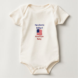 Handsome Brilliant American Baby Snuggly Baby Bodysuit