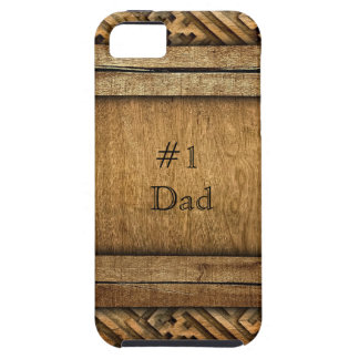 Handsome Brown Carved Wood Dad Father's Day iPhone SE/5/5s Case