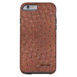 Handsome Brown Ostrich Leather Look iPhone 6 Case