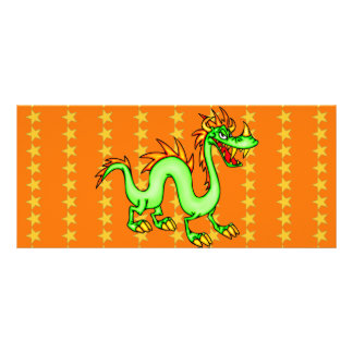 Handsome Chinese Dragon Full Color Rack Card