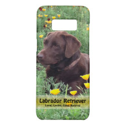 Case-Mate Barely There for Samsung Galaxy S8 Case with Labrador Retriever Phone Cases design