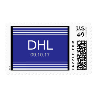 handsome, customizeable royal blue stamp