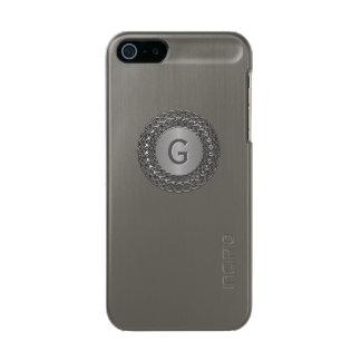 Handsome Decorative Monogrammed iPhone 5S Case Incipio Feather® Shine iPhone 5 Case