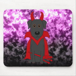 Handsome Devil Halloween Black Lab Mouse Pad