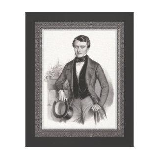 Handsome Elegantly Dressed Biedermeier Gentleman Canvas Print