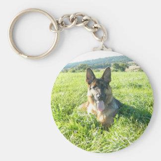 Handsome German Shepherd Dog Key Chain
