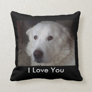 Handsome Great Pyrenees Dog Throw Pillow