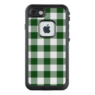 Handsome Green and White Buffalo Plaid LifeProof® FRĒ® iPhone 7 Case