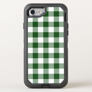 Handsome Green and White Buffalo Plaid OtterBox Defender iPhone 7 Case