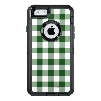 Handsome Green and White Buffalo Plaid OtterBox Defender iPhone Case