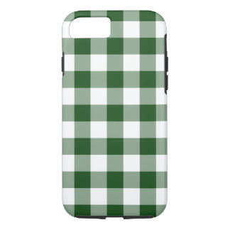 Handsome Green and White Gingham Pattern iPhone 7 Case