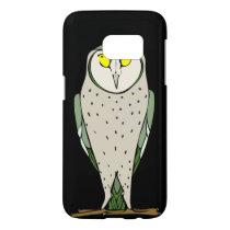 Handsome Green Owl on Black Samsung Galaxy S7 Case
