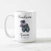 Handsome Groom Watercolour Mug