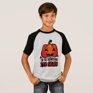 Halloween Themed Handsome its Scary pumpkin laugh cool orange green T-Shirt