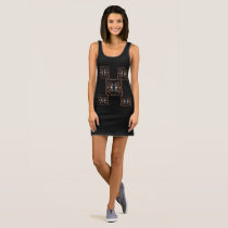 Handsome Jersey Tank Dress- Brown/Tan/White/Black
