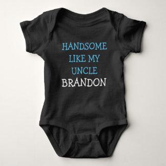 Handsome like my Uncle custom name baby boy shirt