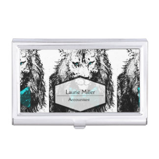 Handsome Lion with Bow Tie Business Card Case