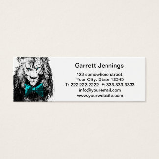 Handsome Lion with Bow Tie Mini Business Card