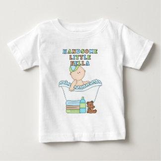 Handsome Little Fella Baby Boy in Bathtub Baby T-Shirt