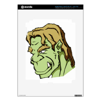 handsome monster green decal for iPad 3