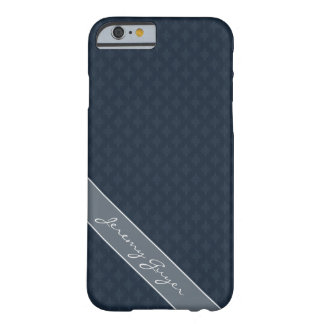 Handsome Navy Blue Masculine Personal Monogram Barely There iPhone 6 Case