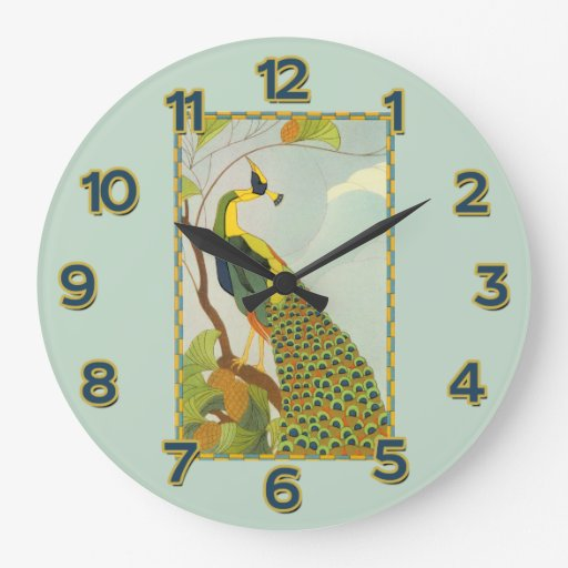 Handsome Peacock Wall Clock