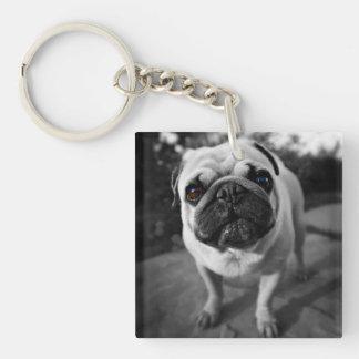 Handsome Pug Acrylic Keychains