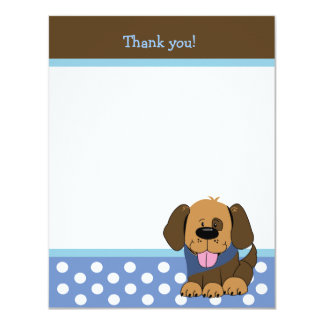 HANDSOME PUPPY 4x5 Flat Thank you note Card