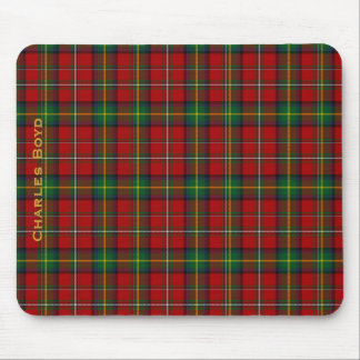 Handsome Red & Green Boyd Family Tartan Mouse Pad