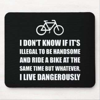 Handsome Ride Bike Mouse Pad