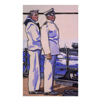 Handsome Sailors, WW1 1917 Art Poster