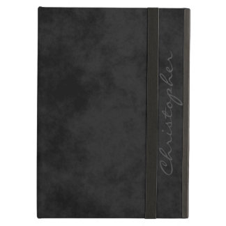 * Handsome Signature Mottled Black Cover For iPad Air