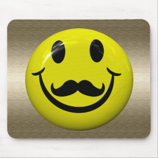 Handsome Smiley Face With Moustache Mousepad