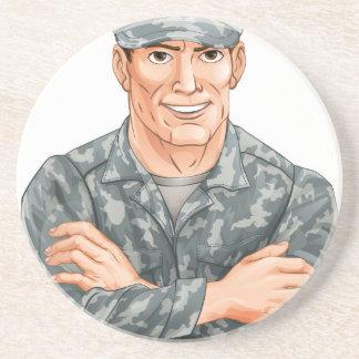 Handsome Soldier Drink Coaster