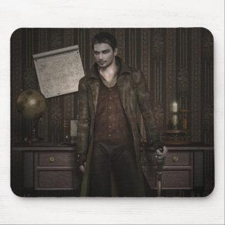 Handsome steampunk gentleman design mousepad
