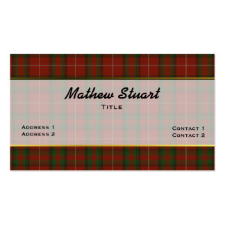 Handsome Stuart of Brute Plaid Business Card