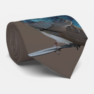 Handsome Tree Swallow: Bird on a Wire Neck Tie