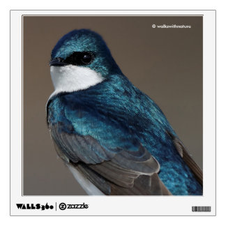 Handsome Tree Swallow: Bird on a Wire Wall Sticker
