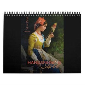 Handspinning in Art - 2017 Calendar