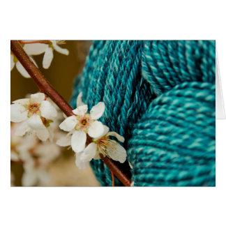 Handspun with Plum Blossoms Card