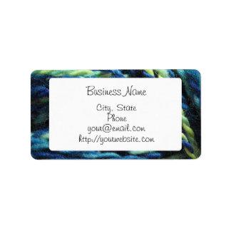 Handspun yarn labels