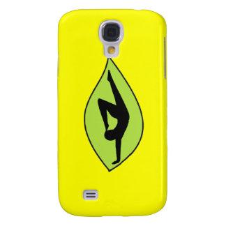Handstand de la yoga - caja amarilla del iPhone Funda Para Galaxy S4