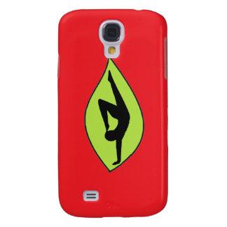 Handstand de la yoga - caja roja del iPhone Funda Para Galaxy S4